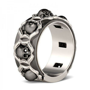 Jewelry - .925 Sterling Silver Skull Ring Band